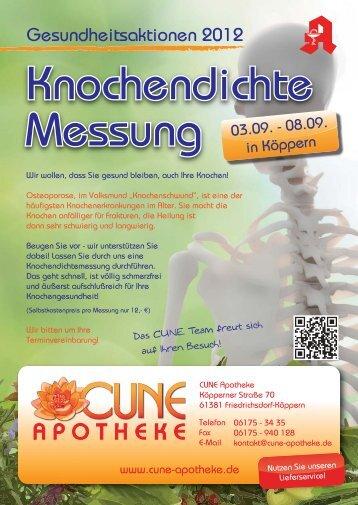 Flyer Knochendichte-Messung H.ai - CUNE Apotheke