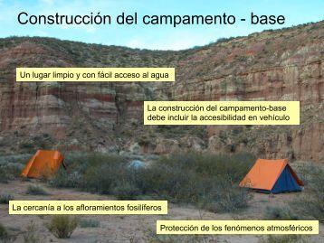 Construcción del campamento - base - Aragosaurus