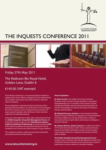 THE INQUESTS CONFERENCE 2011 - La Touche Training
