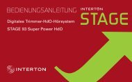 Stage SP User guide - Interton