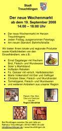 Der neue Wochenmarkt - Stadt Treuchtlingen
