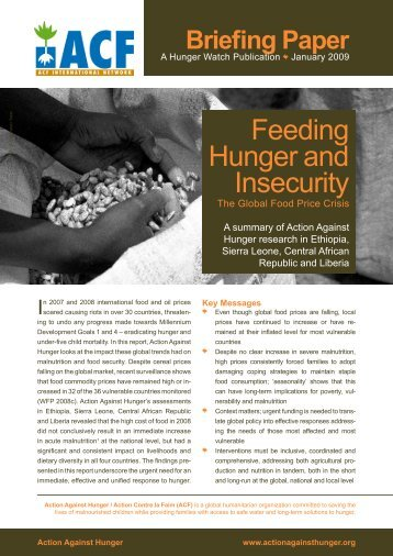 Feeding Hunger & Insecurity: The Global Food Price Crisis