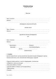 Muster-Arbeitsvertrag für Assistenzperson