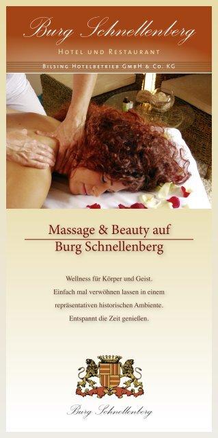 Massage & Beauty-Broschüre - Hotel und Restaurant Burg ...