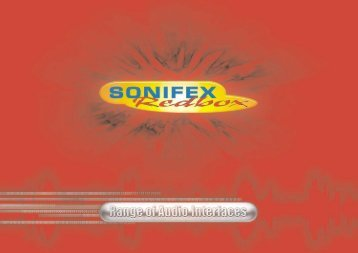 Sonifex RedBox brochure - fra www.interstage.dk