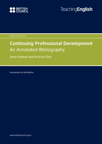Continuing Professional Development An ... - EnglishAgenda