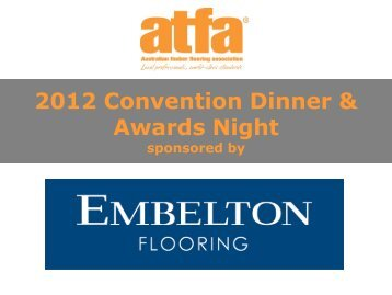 2012 Convention Dinner & Awards Night