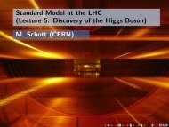 Standard Model at the LHC (Lecture 5: Discovery of the Higgs ...