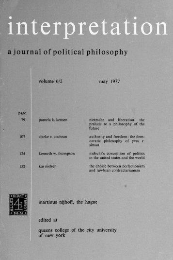 Interpretation: A Journal of Political Philosophy