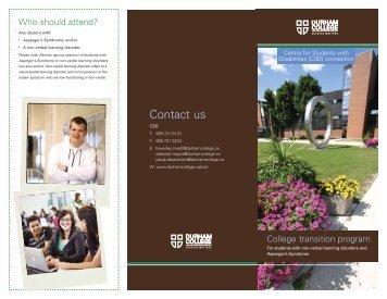 Aspergers Brochure - Durham College