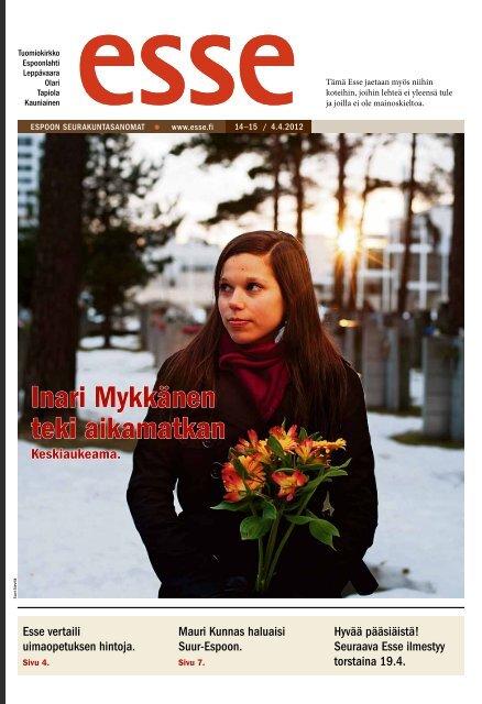 Esse 14-15/2012 (pdf) - Espoon seurakuntasanomat