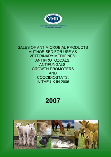 Sales of antimicrobials in 2006 - Veterinary Medicines Directorate ...