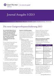 Journal Ausgabe 3/2013 - Grant Thornton
