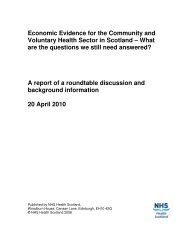 Economic Evidence for the Community and Voluntary Health Sector ...