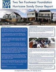 Hurricane Sandy Donor Report (PDF) - Two Ten Footwear Foundation