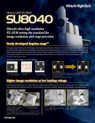 Hitachi ultra high resolution FE-SEM setting the standard for image ...