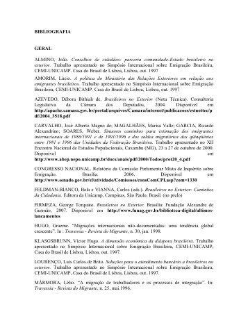Referencias Bibliograficas.pdf - Brasileiros no Mundo - Ministério ...