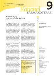 Rationel FARMAKOTERAPI 9 Behandling af type 2 diabetes mellitus