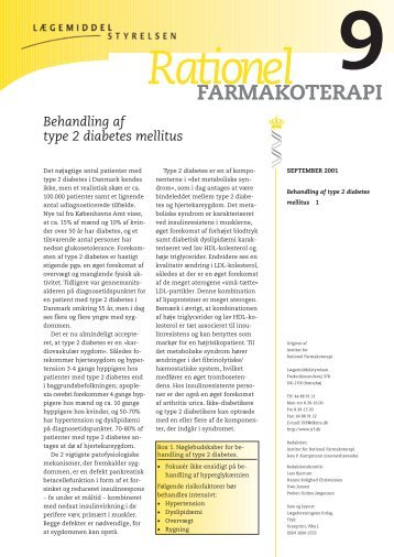 Rationel FARMAKOTERAPI 9 Behandling af type 2 diabetes mellitus