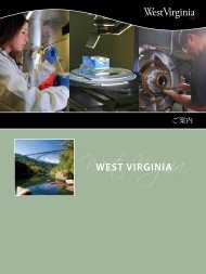 ご案内 - West Virginia Department of Commerce