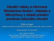 Aktuální otázky a informace Ministerstva školství, mládeže a ...