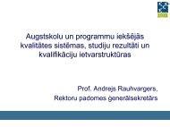 Augstskolu un programmu iekšējo kvalitātes sistēmu saistība ar ...