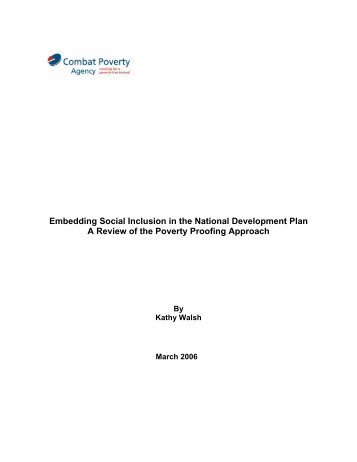 Embedding Social Inclusion in the National Development Plan