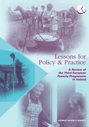 Lessons for Policy and Practice - Combat Poverty Agency