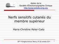 Nerfs sensitifs cutanés du membre supérieur - Société d ...