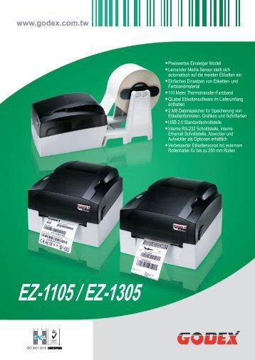 Download Datenblatt GODEX EZ-1305 - AJK Etiketten