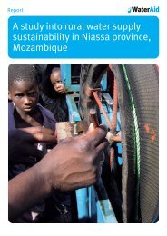 Rural water sustainability supply study in Mozambique - WaterAid