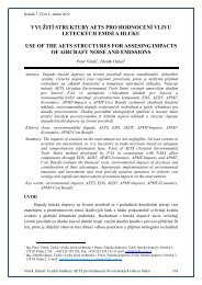 Využití struktury AETS pro hodnocení vlivu leteckých emisí a