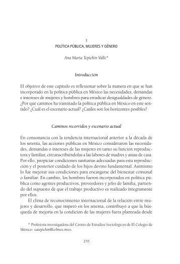 Política pública, mujeres y género - Centro de Estudios Sociológicos ...
