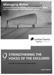 a guide to anti-poverty networking - Combat Poverty Agency