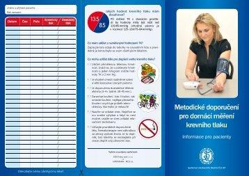 Metodické doporučení pro domácí měření krevního tlaku