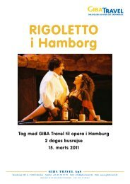 rigoletto i Hamborg - GIBA Travel