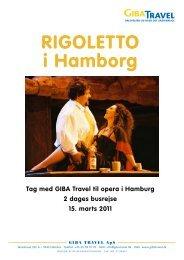 rigoletto i Hamborg - GIBA Travel