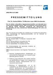 Prof. Dr. Gerhard Müller, TU München neuer 4ING-Vorsitzender
