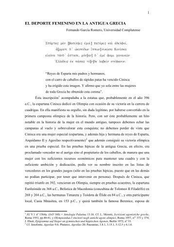 MUJER Y DEPORTE EN EL MUNDO ANTIGUO - Historia Antigua