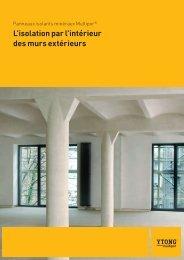 Brochure L'isolation par l'intérieur des murs extérieurs - Ytong