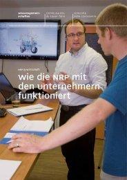 Wie die NRP mit den Unternehmern funktioniert - Regiosuisse
