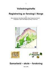 Veiledningshefte Registrering av fenologi i Norge - Nettverk for ...