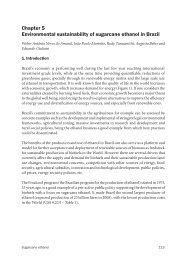 Chapter 5 Environmental sustainability of sugarcane ethanol in Brazil