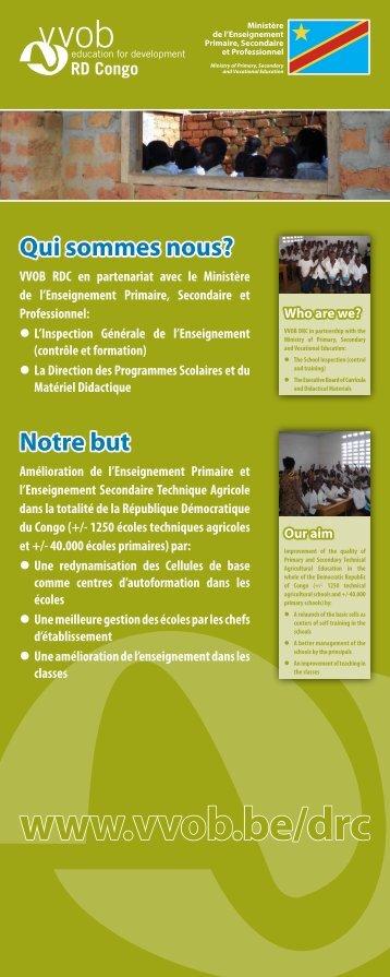 Ministère de l'Enseignement Primaire, Secondaire et ... - VVOB