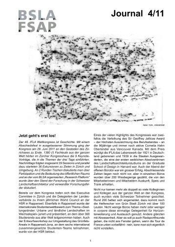 Journal 4/11 - BSLA