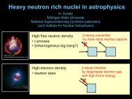 Heavy neutron rich nuclei in astrophysics X X - ORNL Physics Division