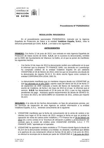 PS-00294-2014_Resolucion-de-fecha-11-09-2014_Art-ii-culo-11.1-LOPD