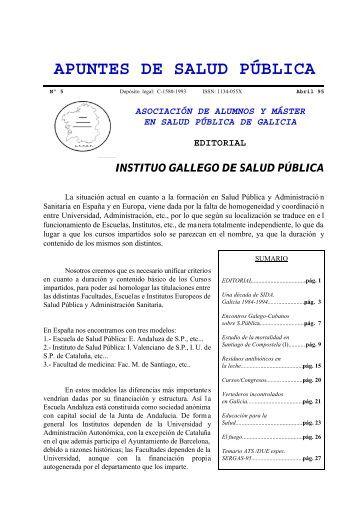 Apuntes de Salud Pública, Vol. I, Nº 5, Abril 1995