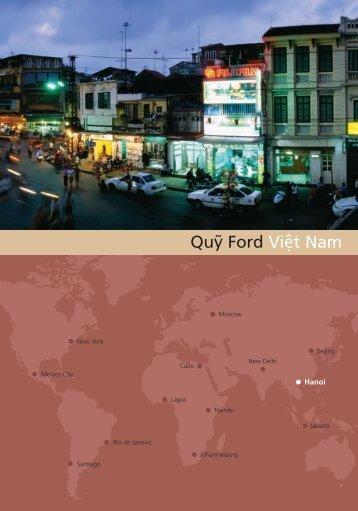 Ford Foundation Vietnam Regional Brochure