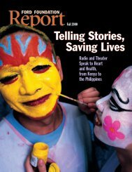Telling Stories, Saving Lives - Ford Foundation